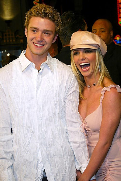 Britney Spears and boyfriend Justin Timberlake at the premiere o