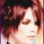 red-color-asymmetric-cut-short-hairstyle